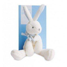 Accueil Doudou et Compagnie doudou Doudou et compagnie Lapin Bleu Col Bleu DC2911 J'aime mon doudou Pantin
