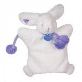 Accueil Doudou et Compagnie doudou Doudou et compagnie Lapin Violet DC2742 Pompons marionnette