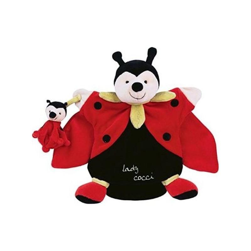 Accueil Doudou et Compagnie doudou Doudou et compagnie Coccinelle Rouge Lady cocci et son bebe Ballade en Foret marionnette