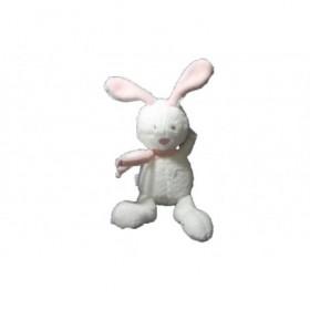 Accueil Babysun doudou Babysun Lapin Blanc foulard et oreilles rose 15cms Pantin