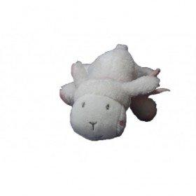 Accueil Babysun doudou Babysun Lapin Blanc foulard et oreilles rose allonge 13cms Pantin