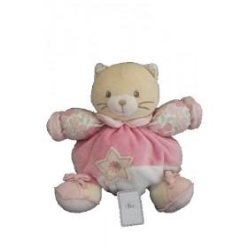 Accueil Kaloo doudou Kaloo Chat Rose Tiny chubby fleurs et etoile Lilirose Hochet