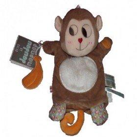 Accueil Kaloo doudou Kaloo Singe Marron banane NopNop Marionnette