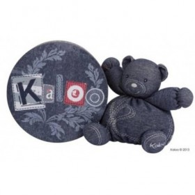 Accueil Kaloo doudou Kaloo Ours Bleu Blue Denim 18cms Blue Pantin
