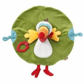 Accueil Babysun doudou Babysun Toucan Vert Dentition rouge Jungle Heroes Plat