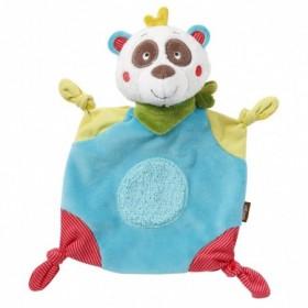 Accueil Babysun doudou Babysun Panda Bleu Mouchoir Jaune Rouge Jungle Heroes Plat