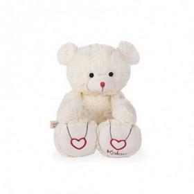 Accueil Kaloo doudou Kaloo Ours Blanc Creme Medium 31cms Rouge Kaloo Pantin