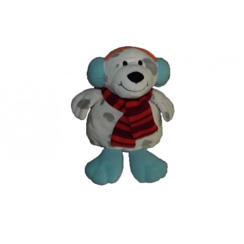 ramasser meilleure vente mode de vente chaude Doudou Aloha La halle kimbaloo ours chien blanc et gris cache oreille