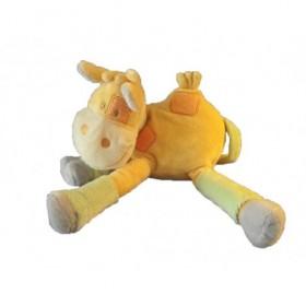 Accueil Kimbaloo doudou Kimbaloo Girafe Orange foulard vert La halle Pantin