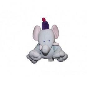 Accueil Kimbaloo doudou Kimbaloo Elephant Bleu cirque bonnet violet La halle Pantin
