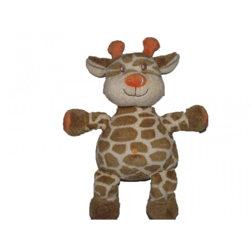 Accueil Kimbaloo doudou Kimbaloo Girafe Marron orange 28cms La halle Pantin