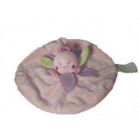 Accueil Kimbaloo doudou Kimbaloo Papillon Rose petale vert violet La halle plat