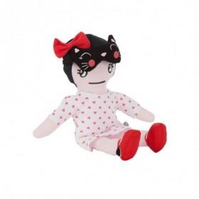 Accueil Kimbaloo doudou Kimbaloo Poupee Rouge deguisee en chat robe blanche cœur rose La halle Poupee