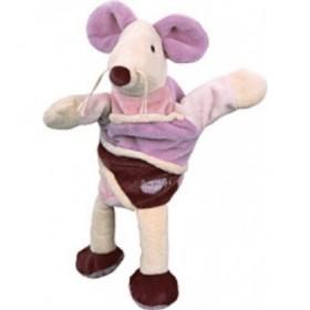 Accueil Babynat doudou Babynat Souris Violet bordeaux BN855 Marionnette