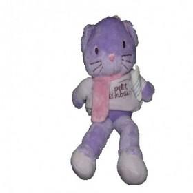 Accueil Kimbaloo doudou Kimbaloo Chat Violet pull et echarpe rose le petit 20cms La halle Pantin