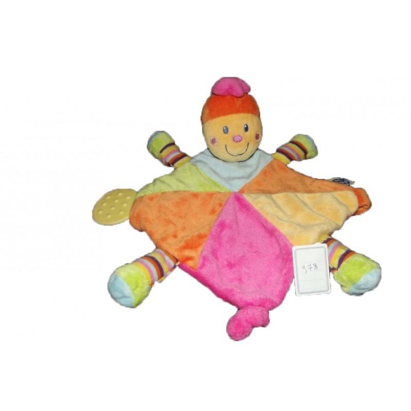 Accueil Mots d'enfants doudou Mots d'enfants Papillon Orange  Attache tetine
