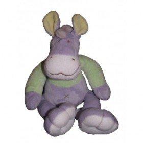 Accueil Mots d'enfants doudou Mots d'enfants Ane Violet ane assis violet et vert Pantin