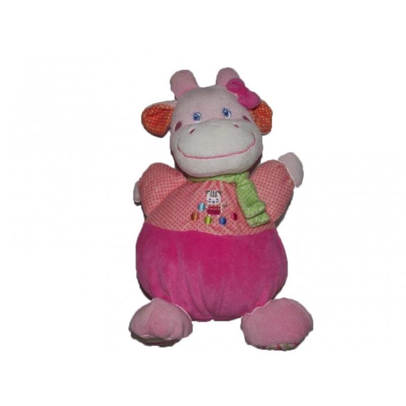 Accueil Mots d'enfants doudou Mots d'enfants Vache Rose pois foulard vert Pantin
