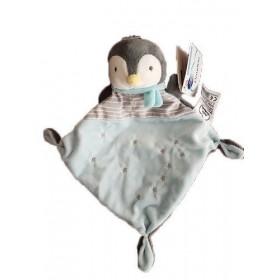 Accueil Mots d'enfants doudou Mots d'enfants Pingouin Gris etoile Echarpe Plat