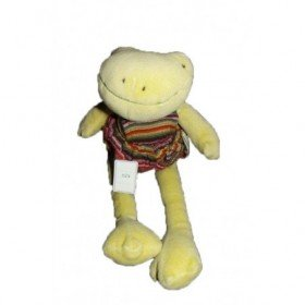 Accueil Moulin Roty Doudou Moulin Roty Grenouille Vert salopette rayures 33cms La Grande Famille Pantin