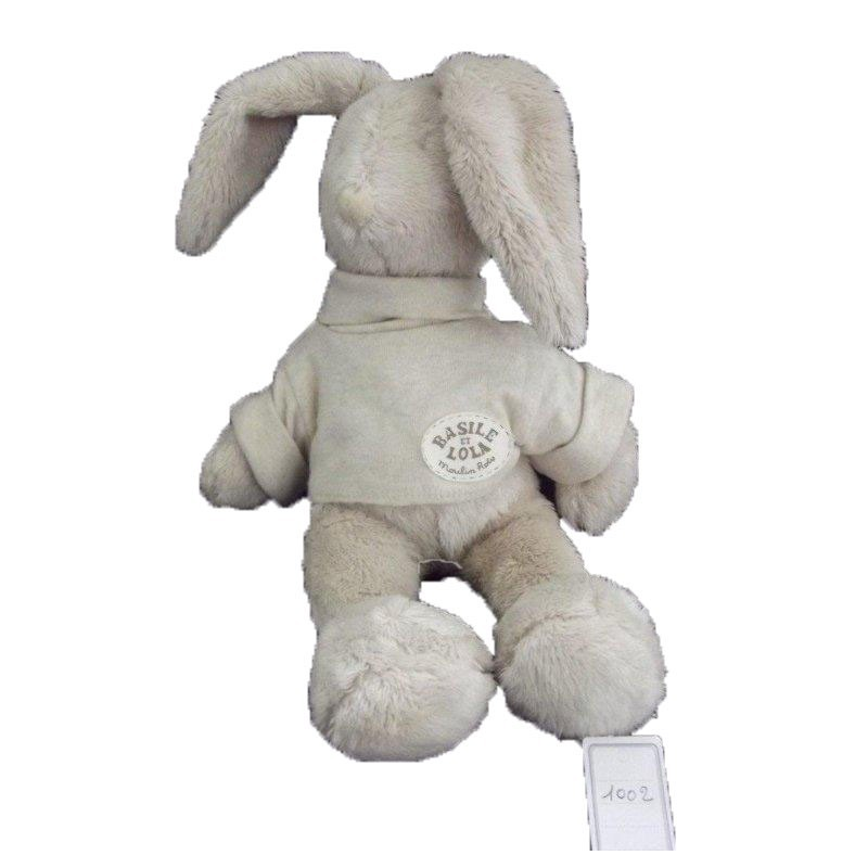 Accueil Moulin Roty Doudou Moulin Roty Lapin Beige Basile & Lola Pantin