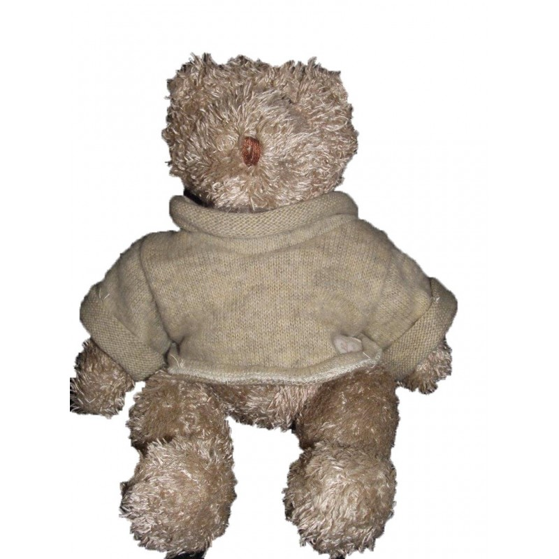 Accueil Moulin Roty Doudou Moulin Roty Lapin Marron pull laine beige Basile & Lola Pantin
