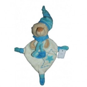 Accueil Babynat doudou Babynat Ours Bleu  Attache tetine