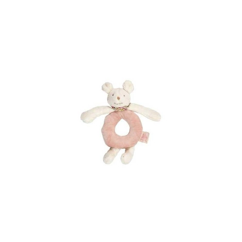 Accueil Moulin Roty Doudou Moulin Roty Souris Rose Myrtille & Capucine Hochet