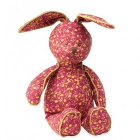 Accueil Moulin Roty Doudou Moulin Roty Lapin Rose fleur jaune 40cms Les Petites Choses Pantin