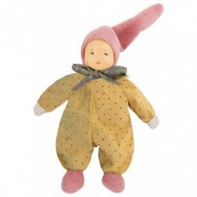 Accueil Moulin Roty Doudou Moulin Roty Poupee Jaune moutarde 18cms Petite Chose Hochet
