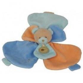 Accueil Babynat doudou Babynat Ours Beige Douceur Flower Plat