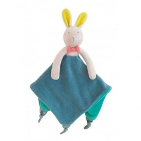Accueil Moulin Roty Doudou Moulin Roty Lapin Bleu Mademoiselle & Ribambelle Attache Tetine