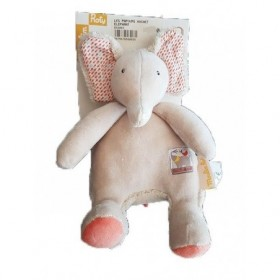 Accueil Moulin Roty Doudou Moulin Roty Elephant Blanc 20cms Papoum Hochet
