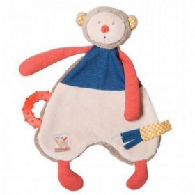 Accueil Moulin Roty Doudou Moulin Roty Singe Bleu Les Papoums Attache Tetine