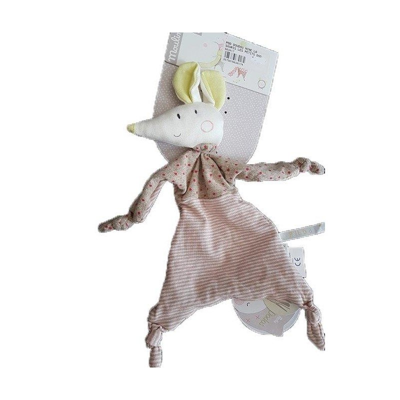 Accueil Moulin Roty Doudou Moulin Roty Souris Rose Nine 33cms Les Petits Dodos Plat