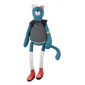 Accueil Moulin Roty Doudou Moulin Roty Panthere Bleu Rosie 46cms Les Broc'n Rolls Pantin