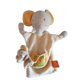 Accueil Moulin Roty Doudou Moulin Roty Elephant Jaune Bebe marionnette