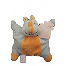 Accueil Nattou Doudou Nattou Rhinoceros Bleu  plat