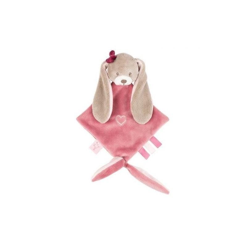 Accueil Nattou Doudou Nattou Lapin Rose Mini Nina Jade & Lili Attache tetine