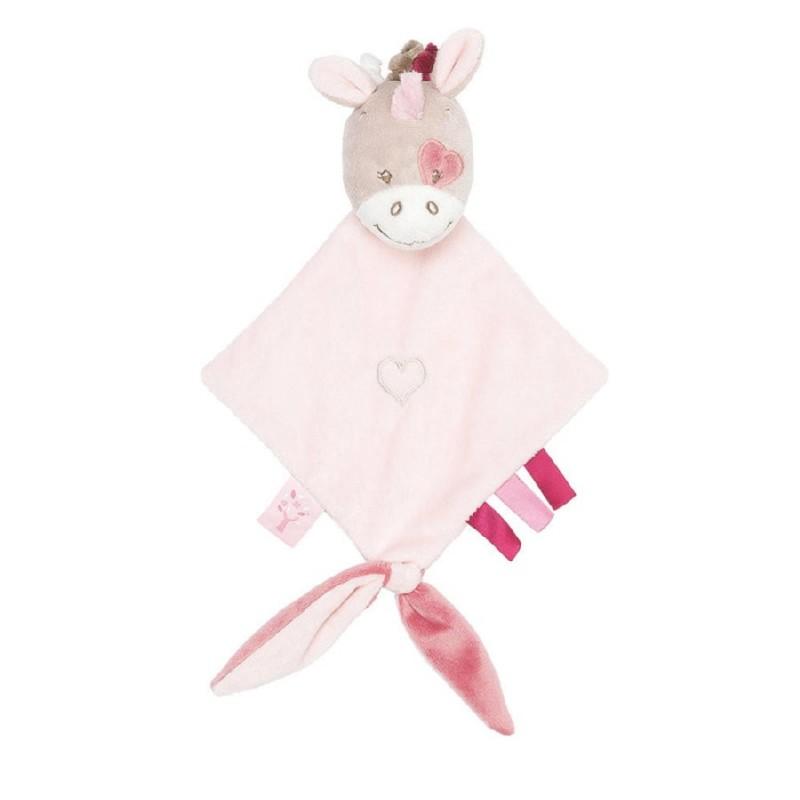 Accueil Nattou Doudou Nattou Licorne Rose mini Nina Jade & Lili Attache tetine