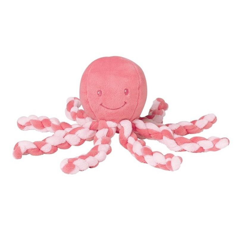 Accueil Nattou doudou Nattou Pieuvre Rose Corail Octopus Pantin