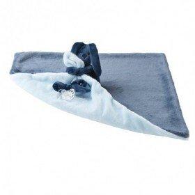 Accueil Nattou doudou Nattou Lapin Bleu Marine / Bleu Ciel Lapidou Pantin Couverture