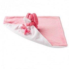 Accueil Nattou doudou Nattou Lapin Rose Corail / Rose Pale Lapidou Pantin Couverture
