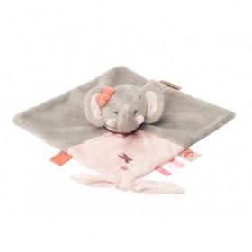 Accueil Nattou doudou Nattou Elephant Rose Gris Adele & Valentine Plat