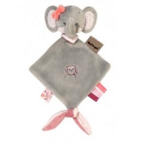 Accueil Nattou doudou Nattou Elephant Rose Mini Gris Adele & Valentine Plat