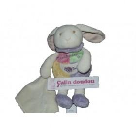 Accueil Babynat doudou Babynat Lapin Violet lapin les bonbons rose violet vert et blanc mouchoir Les Bonbons Pantin