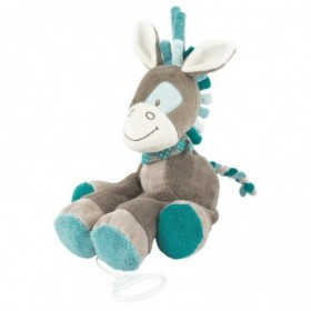 Accueil Nattou doudou Nattou Cheval Bleu 26cms Gaston & Cyril Musical