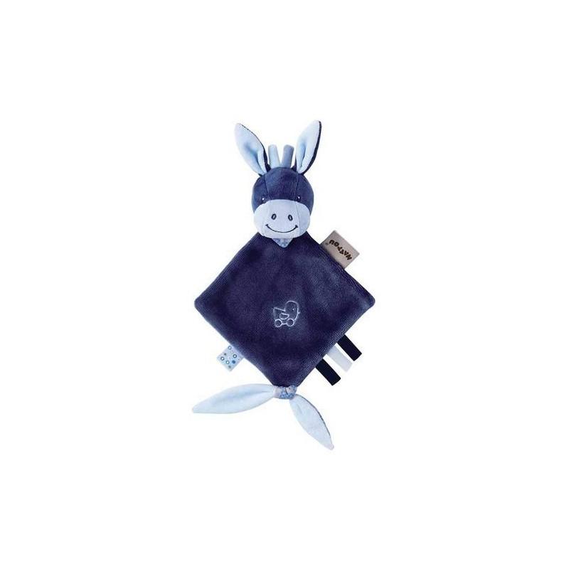 Accueil Nattou doudou Nattou Ane Bleu Mini Alex & Bibou Plat