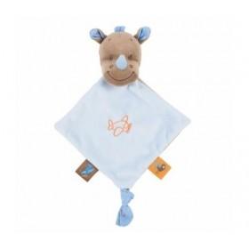 Accueil Nattou doudou Nattou Rhinoceros Bleu Mini Arthur & Louis Plat