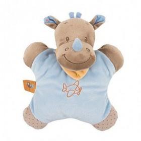 Accueil Nattou doudou Nattou Rhinoceros Bleu Hochet Arthur & Louis Plat